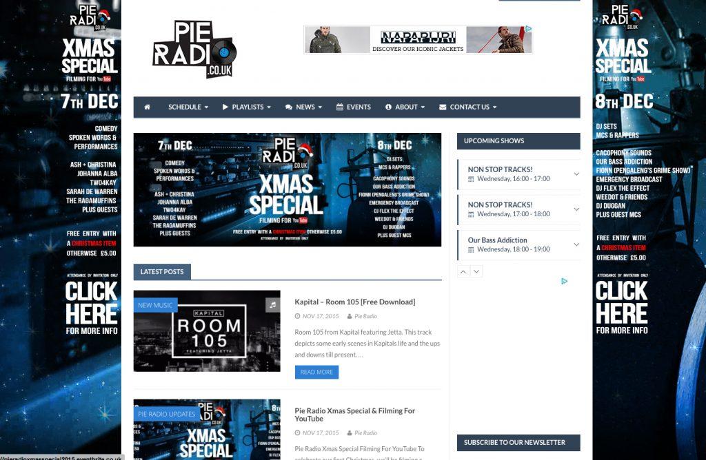 Pie Radio Advertising Website Take Over