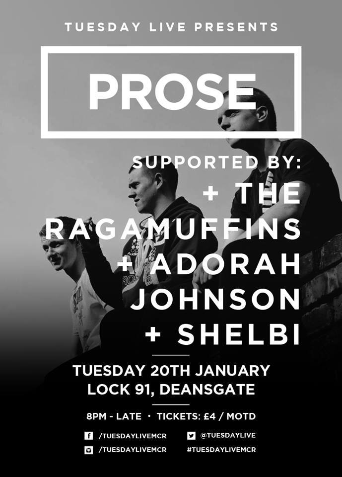 Prose headlines Tuesday Live @ Lock 91