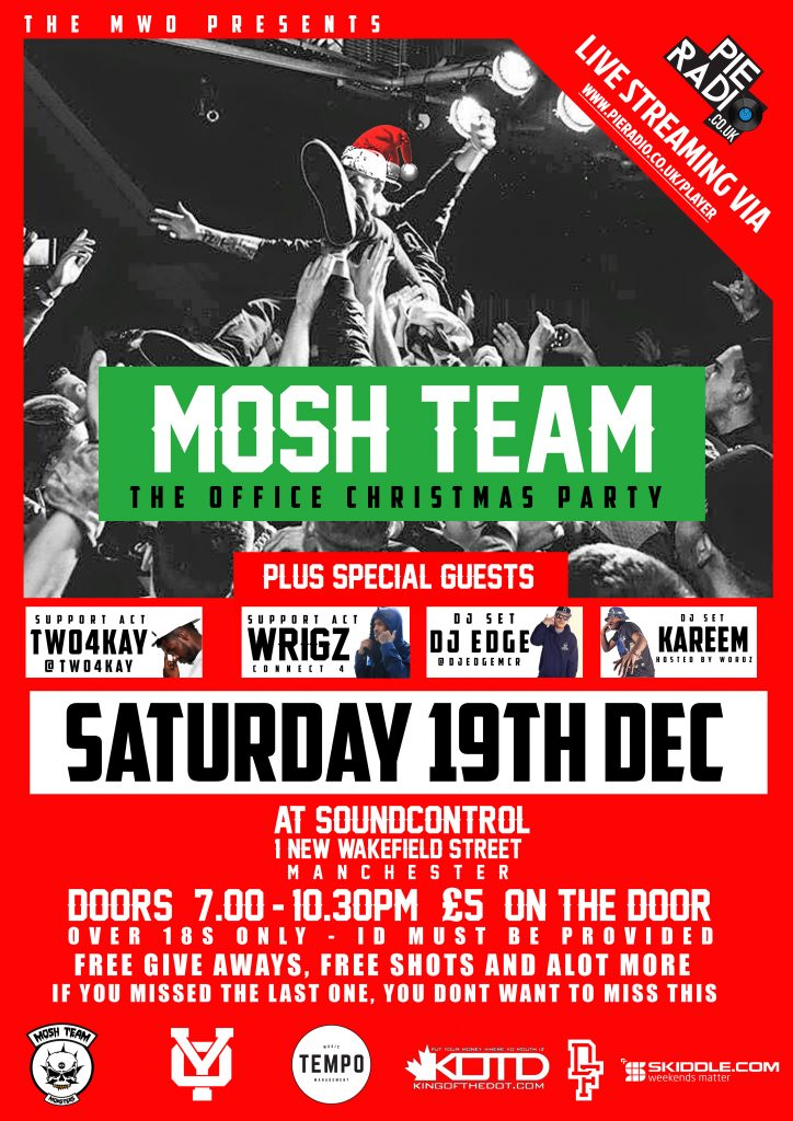 Mosh Team Official Christmas Party + Live Stream by Pie Radio