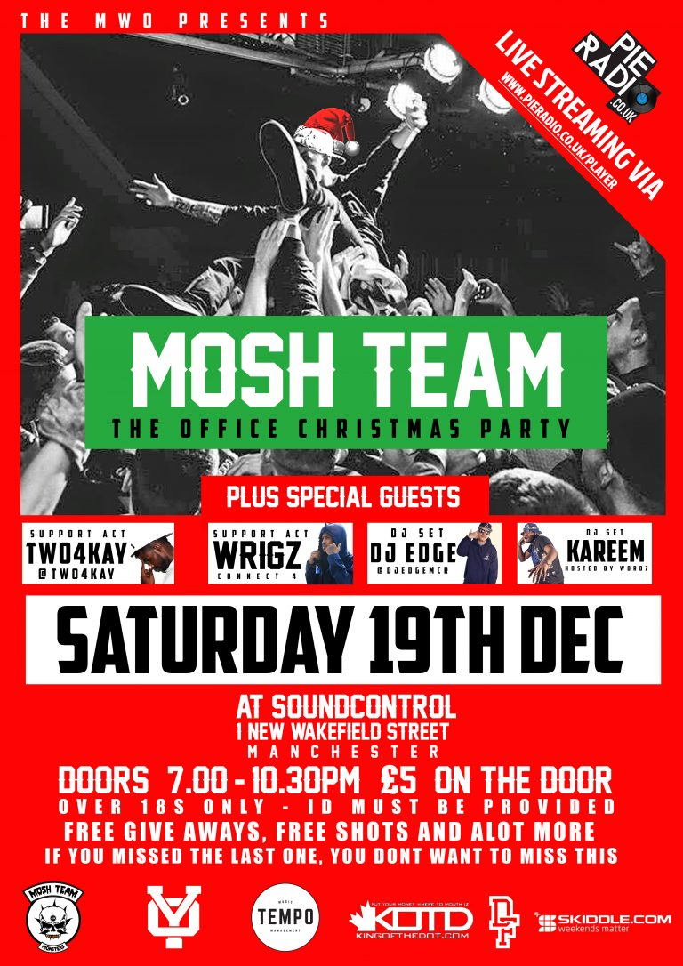 Mosh Team Official Christmas Party + Live Stream by Pie Radio [@MoshTeamOnline]