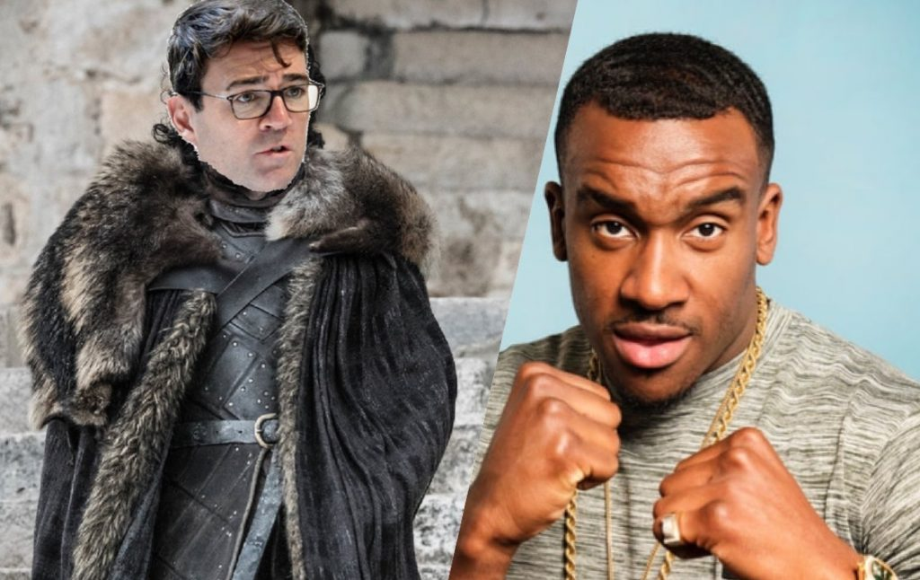 Bugzy Malone has been dethroned as the #KingOfTheNorth by Manchester Major Andy Burnham